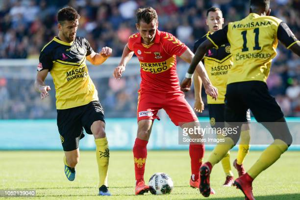 Ognjen Gnjatic of Roda JC Paco van Moorsel of Go Ahead Eagles during the Dutch Keuken Kampioen Divisie match between Go Ahead Eagles v Roda JC at the...