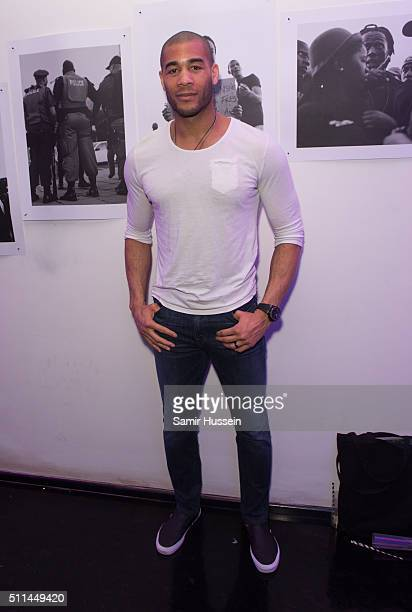 Oguchi Onyewu attends the Urban Outfitters and Centrefold magazine LFW launch party to showcase artists from around the world in a limited edition...