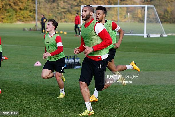 Oguchi Onyewu of Charlton Athletic FC pictured during a training day in Londen United Kingdom