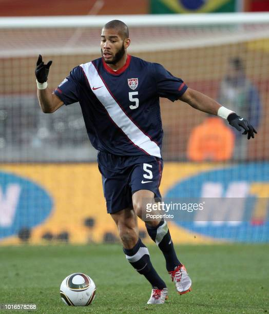 Oguchi Onyewu of the USA in action during the 2010 FIFA World Cup Group C match between Slovenia and USA at Ellis Park Stadium in Johannesburg South...