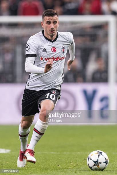 Oguzhan Ozyakup of Besiktas JK during the UEFA Champions League round of 16 match between Besiktas AS and Bayern Munchen at the Vodafone Arena on...