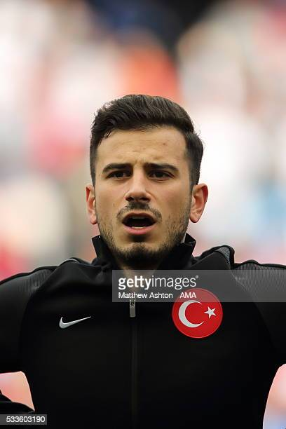 MANCHESTER ENGLAND MAY 22 Oguzhan Ozyakup of Turkey during the International Friendly match between England and Turkey at Etihad Stadium on May 22...