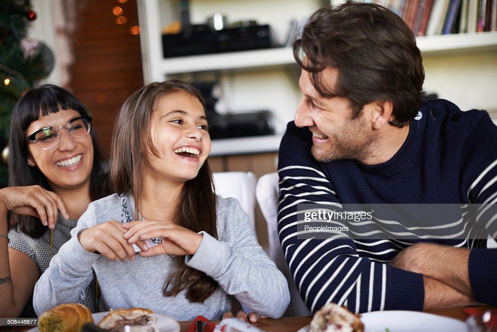 Oh dad you are so funny : Stock Photo