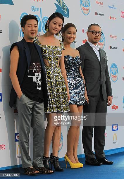 Oh JeHyeong Kang SeungHyun Hwang SoHee and Chang MinYoung attend the 2013 Mnet 20's Choice at Kintex on July 18 2013 in Ilsan South Korea