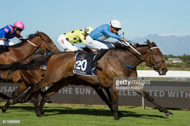 Oh Susanna wins the Met horse race one of the richest horse races on the African continent at Kenilworth race track on January 27 in Cape Town The...