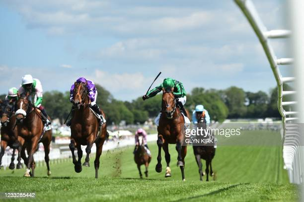 Oh This Is Us ridden by Tom Marquand gets up to win the Diomed Stakes on the second day of the Epsom Derby Festival horse racing event at Epsom Downs...