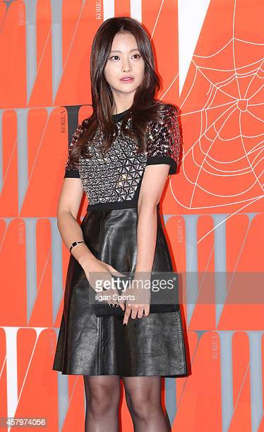 Oh YeonSeo poses for photographs during the W Korea campaign Love Your W party at Fradia on October 23 2014 in Seoul South Korea