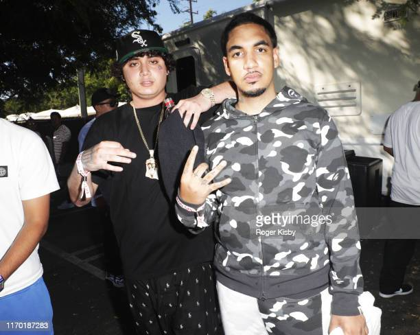 Ohgeesy and Fenix Flexin of Shoreline Mafia attend GUESS SPORT Field Day Experience hosted by GUESS JEANS USA on August 25 2019 in Los Angeles...