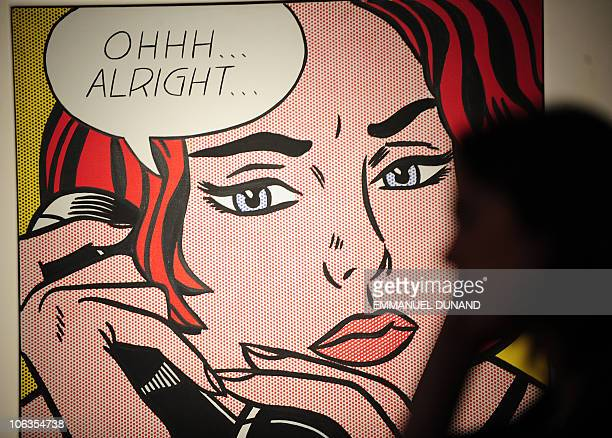 'OhhhAlright' by Roy Lichtenstein is on display during a press preview of Christie's Contemporary Art Autumn sale in New York October 29 2010...