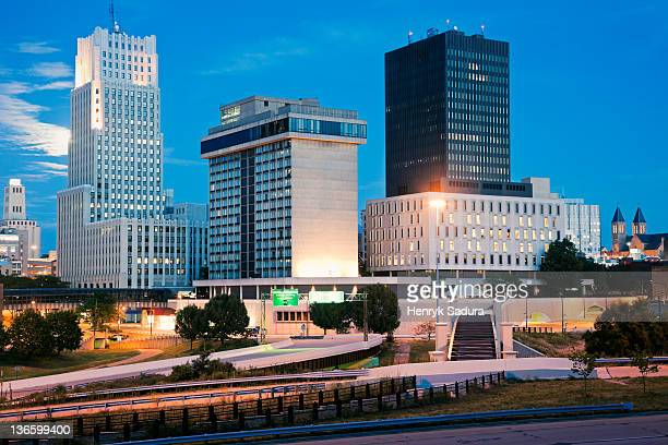 usa, ohio, akron, skyline - ohio stock photos and pictures