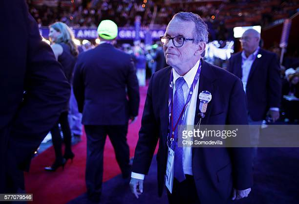 Ohio Attorney General Mike Dewine appears on the first day of the Republican National Convention on July 18 2016 at the Quicken Loans Arena in...