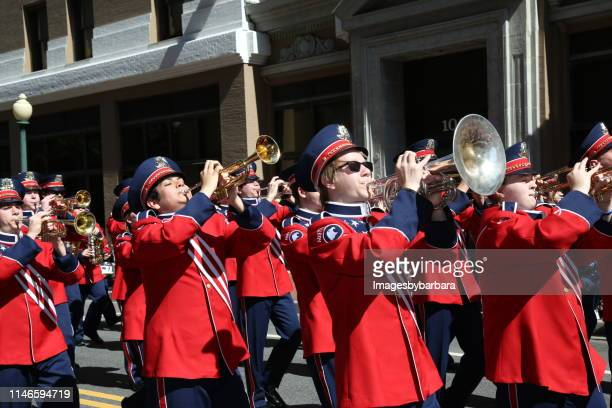 ohio based marching band - norfolk virginia stock pictures, royalty-free photos & images