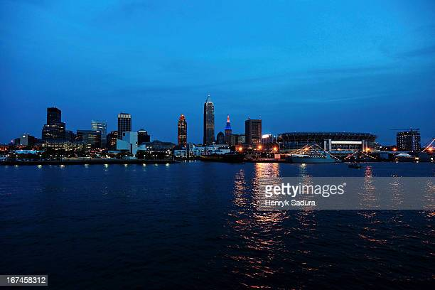 USA, Ohio, Cleveland, Cityscape at night