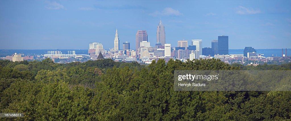 USA, Ohio, Cleveland, Cityscape : Stock Photo