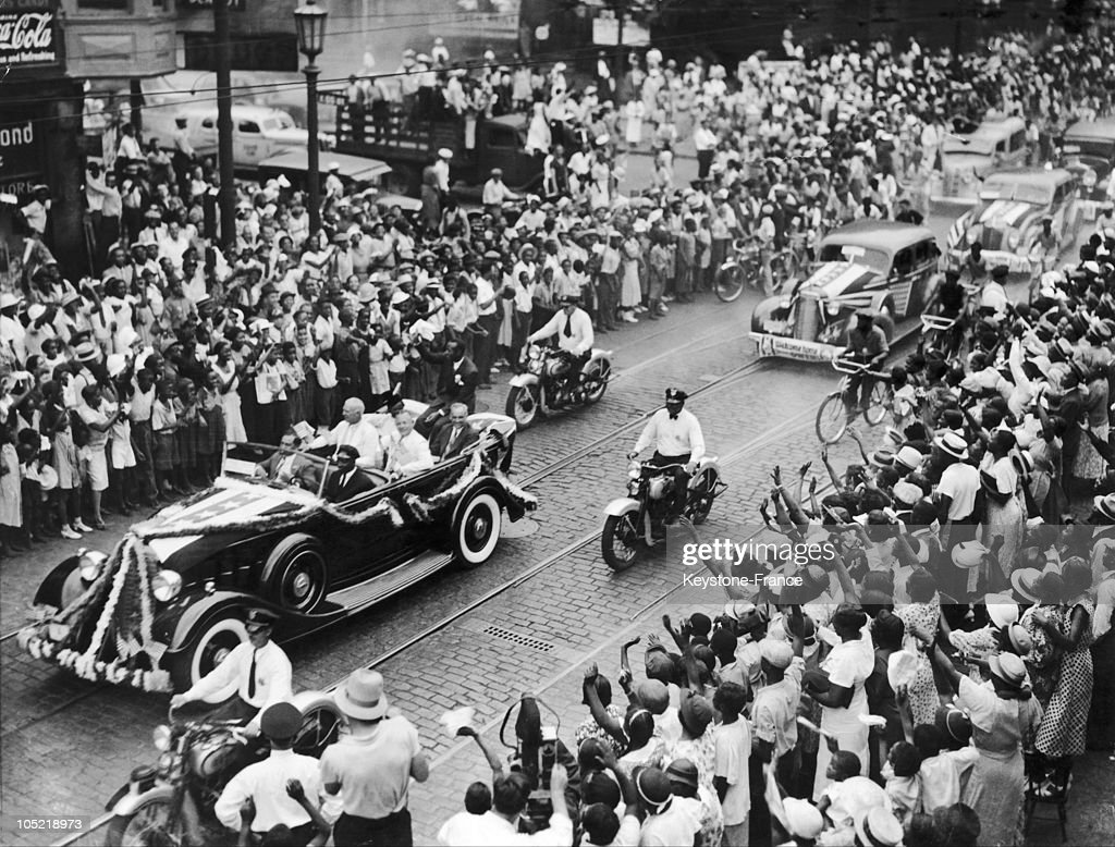 Ohio. Cleveland. Jesse Owens Welcome From Olympic Games Parade ...