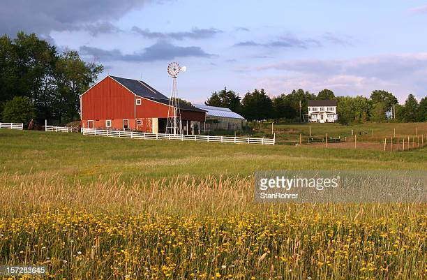ohio farm barn - ohio stock pictures, royalty-free photos & images