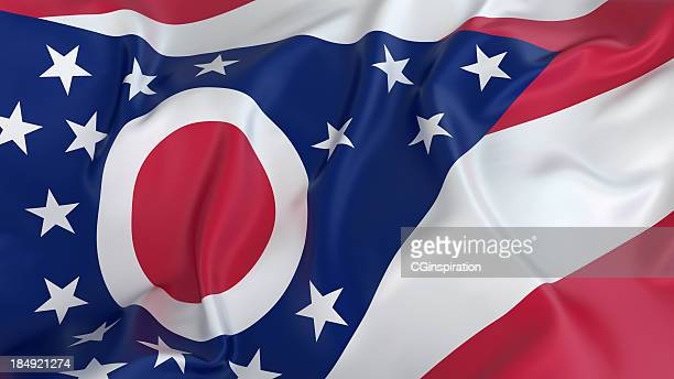 ohio flag - ohio stock pictures, royalty-free photos & images