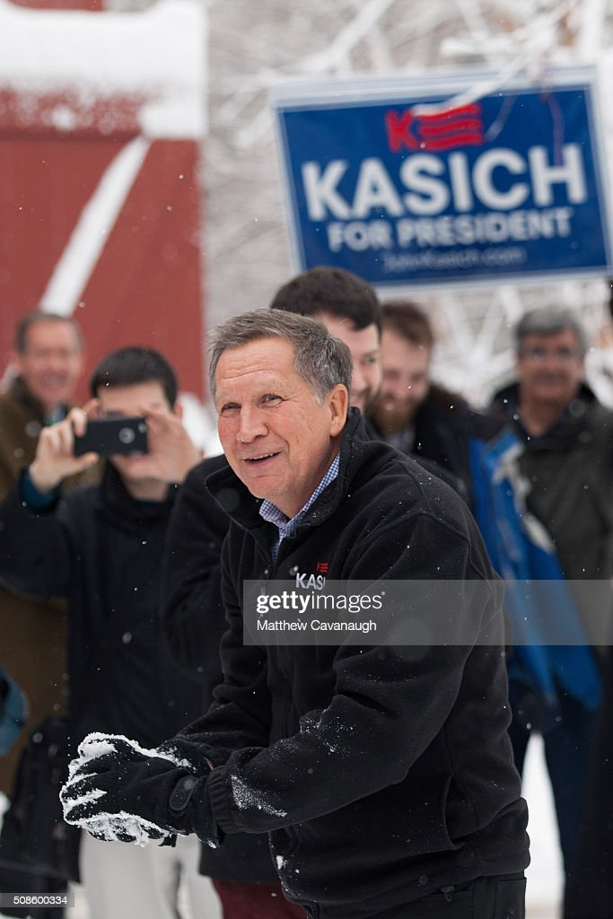 John Kasich Holds Town Hall In Hollis, New Hampshire