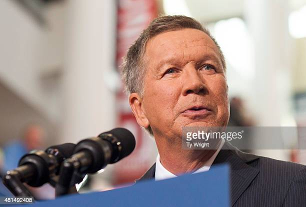 COLUMBUS OHIO JULY Ohio Governor John Kasich gives his speech announcing his 2016 Presidential candidacy at the Ohio Student Union at The Ohio State...