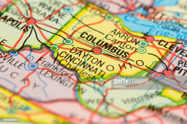 ohio map - ohio stock pictures, royalty-free photos & images