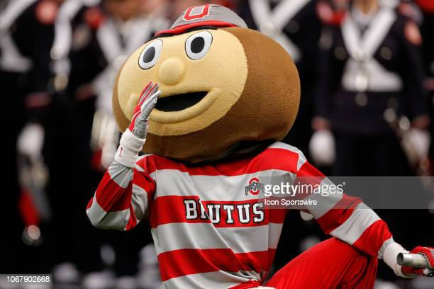 Ohio State Buckeye Mascot Brutus prior to the Big Ten Conference Championship game between the Northwestern Wildcats and the Ohio State Buckeyes on...