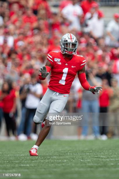 Ohio State Buckeyes cornerback Jeff Okudah during game action between the Ohio State Buckeyes and the Cincinnati Bearcats on September 7 at Ohio...