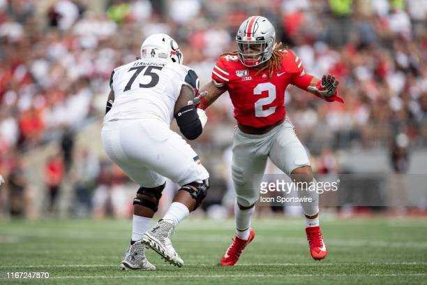 Ohio State Buckeyes defensive end Chase Young during game action between the Ohio State Buckeyes and the Cincinnati Bearcats on September 7 at Ohio...
