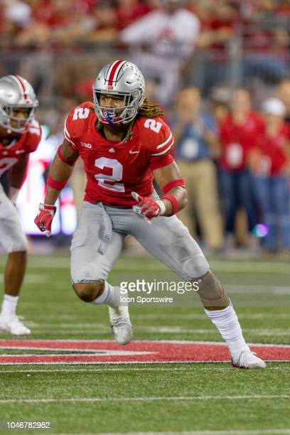 Ohio State Buckeyes defensive end Chase Young in action during a game between the Ohio State Buckeyes and the Indiana Hoosiers on October 06 2018 at...