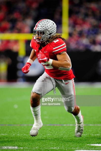 Ohio State Buckeyes defensive end Chase Young rushes the quarterback during the Big Ten Conference Championship college football game between the...