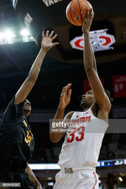 Ohio State Buckeyes forward Keita BatesDiop lays the ball up during a game between the Appalachian State Mountaineers and the Ohio State Buckeyes on...