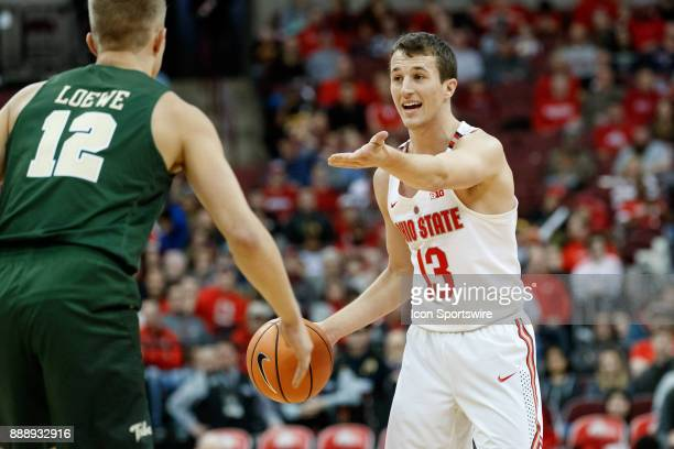 Ohio State Buckeyes guard Andrew Dakich sets the offense during a game between the Ohio State Buckeyes and the William Mary Tribe on December 9 2017...