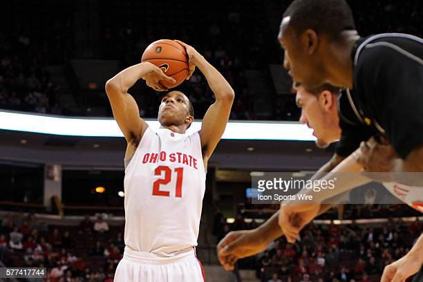 Ohio State Buckeyes guard Evan Turner at the free throw line during the Ohio State Buckeyes 6865 win over the Iowa Hawkeyes during the at Value City...
