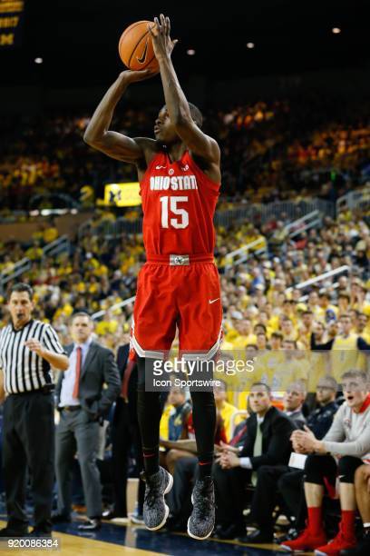 Ohio State Buckeyes guard Kam Williams shoots a jump shot during the second half of a regular season Big 10 Conference basketball game between the...