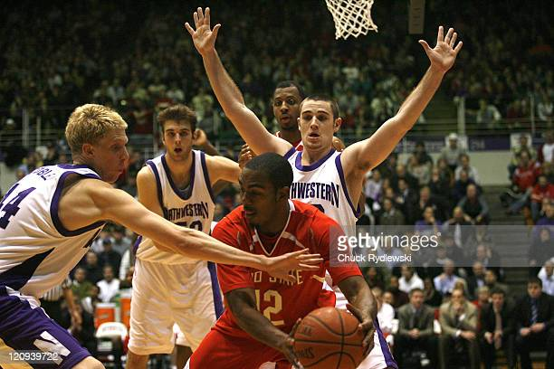 Ohio State Buckeye's Guard Ron Lewis lokks for someone to pass to during their game against the Northwestern Wildcats January 24 2007 at WelshRyan...