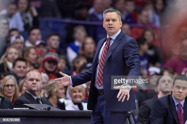 Ohio State Buckeyes head coach Chris Holtmann looks on during the BIG Ten college basketball game between the Northwestern Wildcats and the Ohio...