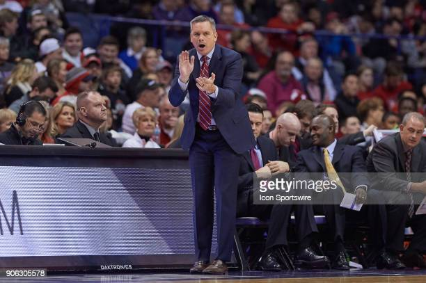 Ohio State Buckeyes head coach Chris Holtmann reacts to a play during the BIG Ten college basketball game between the Northwestern Wildcats and the...