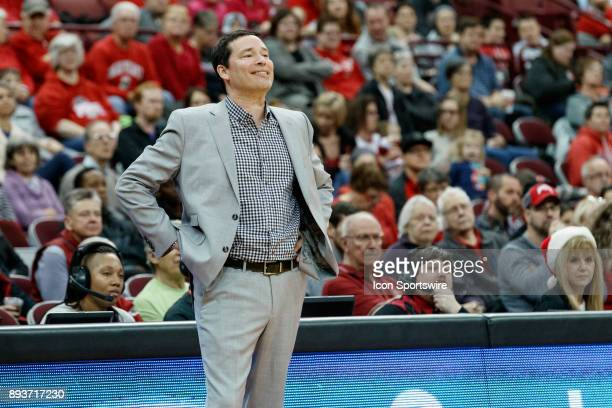 Ohio State Buckeyes head coach Kevin McGuff reacts during a game between the Dartmouth College Big Green and the Ohio State Buckeyes on December 15...