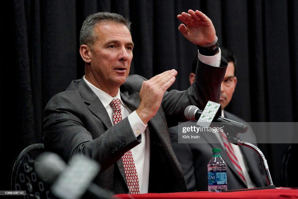 Ohio State Head Coach Urban Meyer Press Conference : News Photo