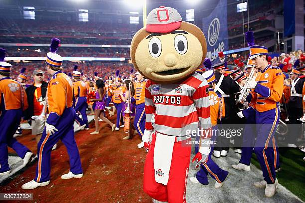 Ohio State Buckeyes mascot Brutis Buckeye performs prior to the start of the 2016 PlayStation Fiesta Bowl against the Clemson Tigers at University of...
