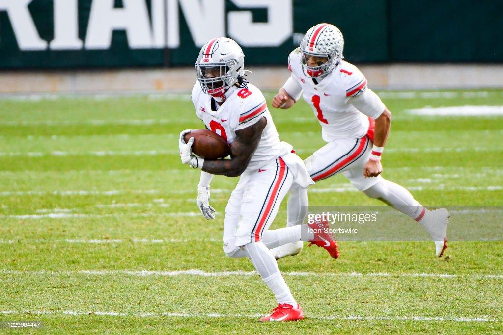 COLLEGE FOOTBALL: DEC 05 Ohio State at Michigan State : News Photo