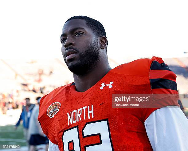 Ohio State Defensive Tackle Adolphus Washington of the North Team after the 2016 Resse's Senior Bowl at LaddPeebles Stadium on January 30 2016 in...