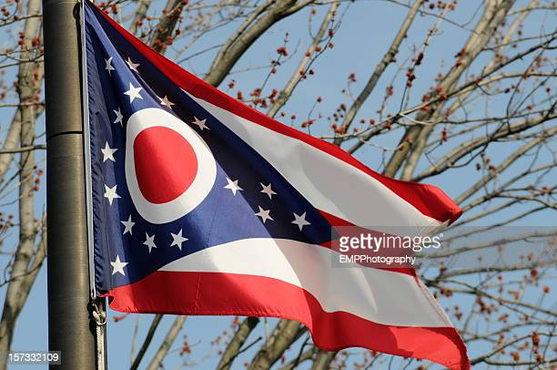 ohio state flag - ohio stock pictures, royalty-free photos & images