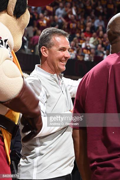 Ohio State football coach Urban Meyer attends Game Four of the 2016 NBA Finals between the Golden State Warriors and the Cleveland Cavaliers at The...