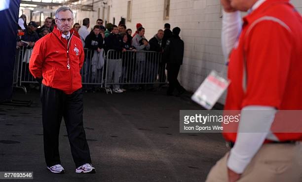 Ohio State head coach Jim Tressel before a game against Penn State at Beaver Stadium in University Park PA on Saturday afternoon