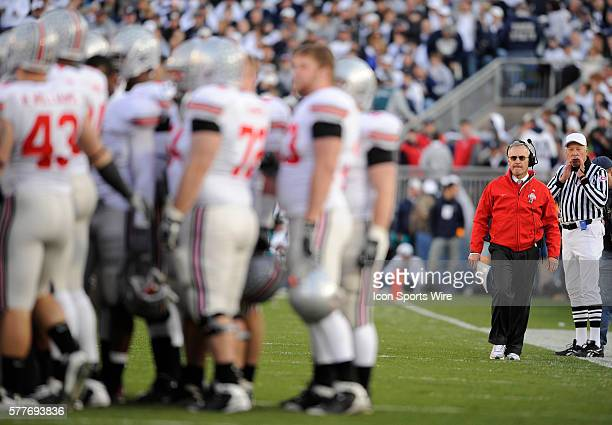 Ohio State head coach Jim Tressel during play against Penn State at Beaver Stadium in University Park PA on Saturday afternoon