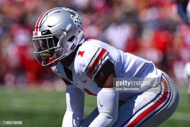 Ohio State Jeff Okudah during a college football game between the Ohio State Buckeyes and Indiana Hoosiers on September 14 2019 at Memorial Stadium...