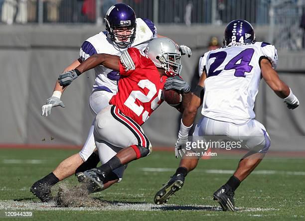 Ohio State Running Back Antonio Pittman during the game against the Northwestern Wildcats November 12 at Ohio Stadium in Columbus Ohio The Buckeyes...