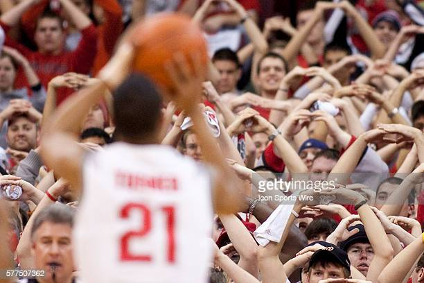 Ohio State students form an 'O' with Ohio State Buckeyes guard Evan Turner at the free throw line during the Illinois Fighting Illini 7068 win over...