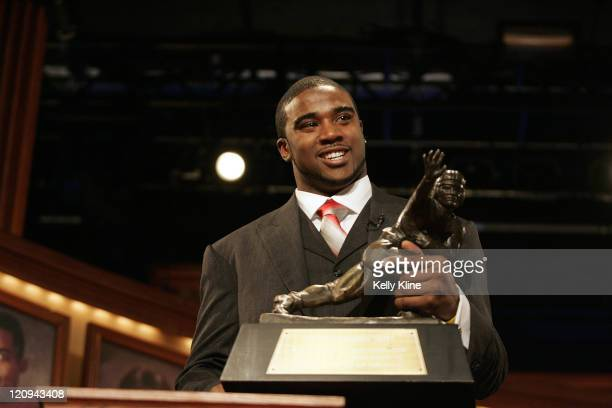 Ohio State University quarterback Troy Smith was awarded the Heisman Trophy during the official presentation ceremonies for the 72nd Heisman Trophy...