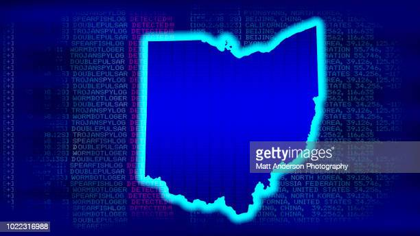 ohio - state with malicious code - electoral college stock pictures, royalty-free photos & images